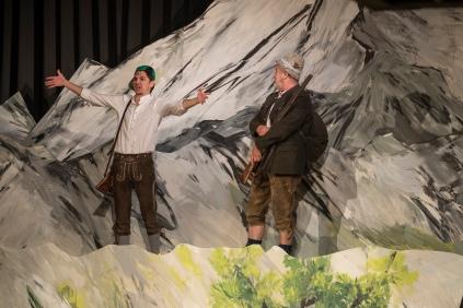 Watzmann Theater , Vater und Sohn bei der Gamsjagd